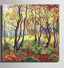 HJKHK Leinwand-Kunst Late Herbst-Wald-Landschaft-Dekoration-Malerei, Frameless Malerei , 60*60*1