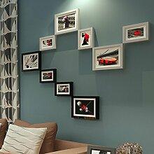HJKY Foto-Rahmen-Wand-Set Foto-Wand einfache
