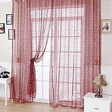 HJL Tür-Vorhang-Fenster-Beflockung-Vorhang-Schirme für Raum und bequeme Vorhang-Schlafzimmer-Vorhänge 100*270cm Weinro