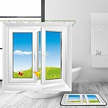 HJMTRY Bad Zubehör Duschvorhang und Badematte Set Polyester Material Mildewproof Wasserdicht 3D Digitaldruck Fenster Muster Bad Dekor mit 12 Kunststoff Haken , 150 x 180 cm