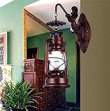 HJW Dekorative Beleuchtung Wandleuchte Retro