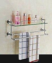 HJW Durable Regale Badezimmer Storage Racks Kupfer