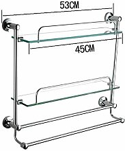 HJW Durable Regale Badezimmer Storage Racks Regal