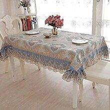 HJW Durable Tischmatte Tuch-Tischdecke Set