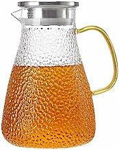 HJW Nützliche Kessel Liter Karaffe Glas Karaffe