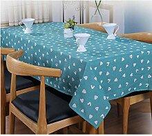 HJW Strapazierfähige Tischdecke Stoff Baumwolle