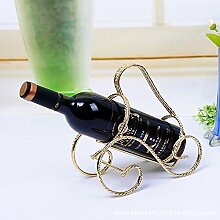 HJWNRK Vintage Weinregal Schmiedeeisen Wein Racks
