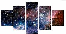 Hjyi Bilder Wandgemälde, (5) abstrakte Sterne