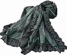 Hjyi Damen Seidenschal Schal reine Farbe warmen