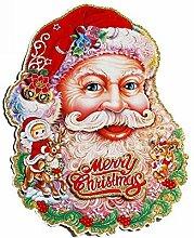 Hjyi Santa Claus Kopf Türaufkleber,