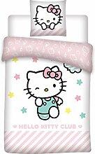 HK Hello Kitty Bettwäsche, Bettbezug für Einzelbe
