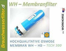 HK Umkehrosmose Membrane Membran Osmose Wasserfilter 200 GPD Filteranlage Membrankartusche Patrone Trinkwasser
