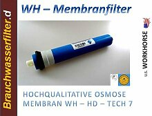 HK Umkehrosmose Membrane Membran Osmose Wasserfilter 75 GPD Filteranlage Membrankartusche Patrone Trinkwasser