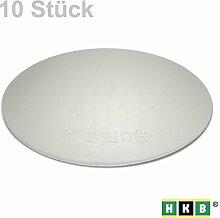 HKB ® 10 Stück BUMMS Türstopper, Türpuffer, Ø 60 mm Höhe: 15 mm, grau, aus Kunststoff, mit Klebefläche, Originalprodukt von Hersteller Hansi Siebert, Artikel-Nr. 50365