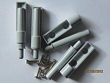 HKB ® Anschlagdämpfer für Möbeltüren, zum Anschrauben, grau, 4 Stück