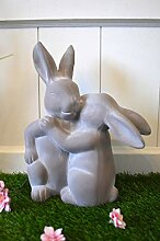 HKC Home Deco Hase Hasenpaar Keramik Osterhase