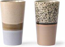 HKliving - 70's Latte Macchiato Becher