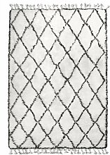 HKliving Black White Berber Teppich 180x280 (l)