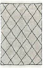 HKliving - Diamond Teppich, 120 x 180 cm, weiß /