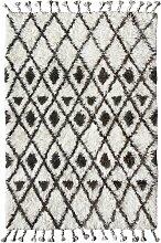 HKliving Hand Knotted Woolen Berber Teppich