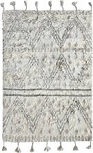 HKliving Handwoven Woolen Berber Teppich 120x180 (l) 180.00 X (b) 120.00 Cm