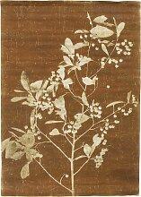 HKliving Linen Chart Blueberry Twig Wanddekoration