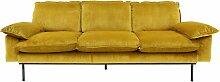 HKliving Retro Sofa 3-Sitzer Ocker (b) 225.00 X (t) 95.00 X (h) 83.00 Cm