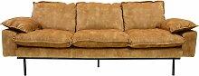 HKliving Retro Sofa 3-Sitzer Senfgelb (b) 225 X