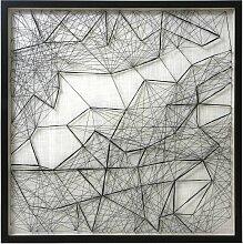 HKliving Rope Art Sculpture Wanddekoration (b)