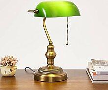 HKLY Vintage Grün Bankerlampe, Nostalgische Retro