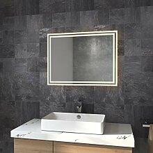 HKMK Badspiegel Lichtspiegel 80 x 60 cm LED