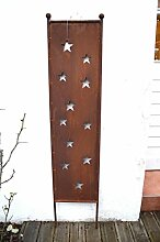 HKT Home Deco Gartenstecker Sterne Schild Rost