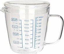 Hkwshop Trink gläser Glas Messbecher, Glas
