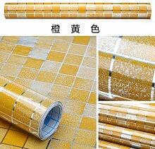 HL-5 Meter Küche Ölbeständig selbstklebende Aufkleber Kachelofen dicker Aluminiumfolie wasserdicht Mosaik Wallpaper 60 cm*5 m, orange, 60 cm*5 m,