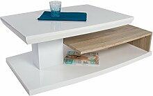 HL Design Couchtisch, Holz, Weiß