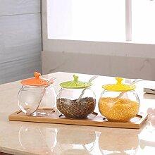 HL-Glasflaschen Seasoning Sauce Topf Set 3 Stück