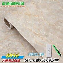 HL-Home Verdickung von Möbel, Marmor Aufkleber, Küche ölfesten Aufkleber, Küchenschränke, Tabelle Panels, selbstklebende Kachel 60 cm*5 m, Beige, 60 cm*5 m