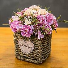 HL-HZH-Strohkorb Blume Blume Blume