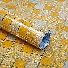 HL-Imitation Mosaik Küche rauchen Aufkleber Hochtemperaturfett Aluminium paste wasserdicht Herd Kacheln orange 45 cm*5 m