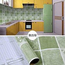 HL-Küche Ölofen mit hoher Temperaturbeständigkeit Aufkleber Dali CIST Haushalt Selbstklebende wasserdicht Mehltau schranktabelle Aufkleber 60 CM*5 M, Grün - B, 60 cm*5 m,