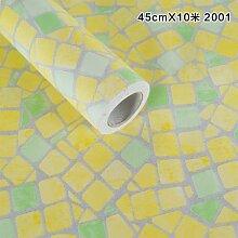 HL-Küchenschrank, Schrank, Herd, hochtemperaturbeständig Ölfesten wasserdicht Mosaik, selbst eingehalten Papier, Badezimmer Hand, Waschtisch, keramische Fliese 45cm * 10m, Marmor 2,45 cm * 10 m