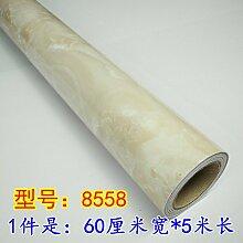 HL-Marmor wand Tapetenkleister ölfesten Selbstklebende Haushalt Kleiderschrank Schrank Tisch mit Wandfliesen einfügen 60 cm * 5 M Erneuerung, Typ 8558,60 cm*5 m