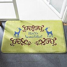 HL-PYL @Carpet-Dämmmatte Mat Mat Badematte Teppich, 50 cm × 80 cm, B,