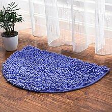 HL-PYL @Carpet-Das Wasser Fuß Bad WC-Tür Mat rutschfeste Fußauflage, 40 x 60, Flieder
