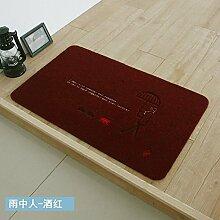 HL-PYL @Carpet-Die fussmatte Teppich Matte Badematte Küche Wasser Mat Mat, 50 x 50, E
