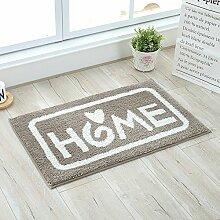 HL-PYL @Carpet-Die Tür zum Badezimmer WC Wasser Polster Teppich Fußmatte Fußmatte Badematte, 45 × 70 cm, G,