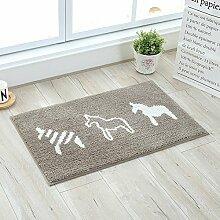 HL-PYL @Carpet-Die Tür zum Badezimmer WC Wasser Polster Teppich Fußmatte Fußmatte Badematte, 40 × 60 cm,