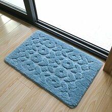 HL-PYL @Carpet-Mat mat mat Wasser Badematte Teppich Matte, 50 x 80 cm, blau