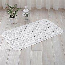 HL-PYL @Carpet-Wc und Bad Mat Badezimmer Badewanne Dusche Zimmer Kissen Kissen Matratze Badematte, 46 Cm X 77 Cm, Weiß