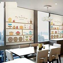 HL-PYL - Das Restaurant Küche Tür fenster Film elektrostatische selbstklebende Sticker Glas Sonnenschutz öl Nachweis transparent blickdicht, matt Elektrostatische, 45 cm * 60 cm